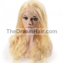 Full Lace Wig, Color 22 (Light Pale Blonde)