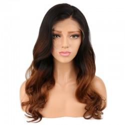Full Lace Wig, Ombre Color 1B/30 (Off Black / Dark Auburn)