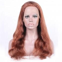 Full Lace Wig, Color 350 (Dark Copper Red)