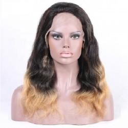 Full Lace Wig, Color 1B/18 (Off Black / Light Ash Blonde)