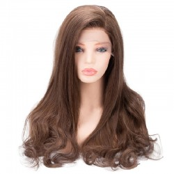Lace Front Wig, Color 6 (Medium Brown)