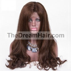 Lace Front Wig, Color 2 (Darkest Brown)