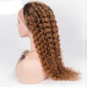 Full Lace Wig, Color 1B/12 (Off Black / Light Brown)