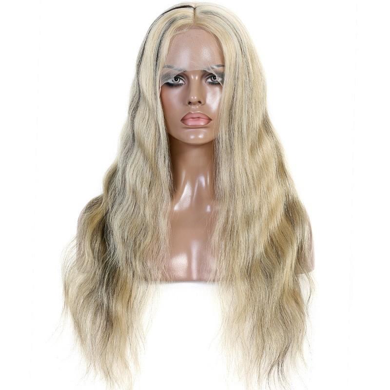 Full Lace Wig, Highlight Color 1B/60 (Off Black / Lightest Blonde)