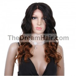 Lace Front Wig, Ombre Color 1B/30 (Off Black / Dark Auburn)