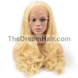 Lace Front Wig, Color 22 (Light Pale Blonde)