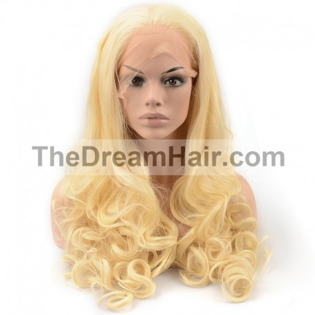 Full Lace Wig, Color 22 (Light Pale Blonde)