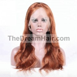 Full Lace Wig, Color 33 (Auburn)