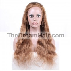 Lace Front Wig, Color 8 (Chestnut Brown)