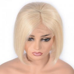 "360° Lace Wig, Bob, 10"", Color 60 (Lightest Blonde)"