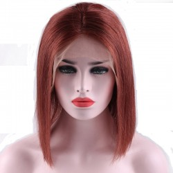 "360° Lace Wig, Bob, 10"", Color 350 (Dark Copper Red)"