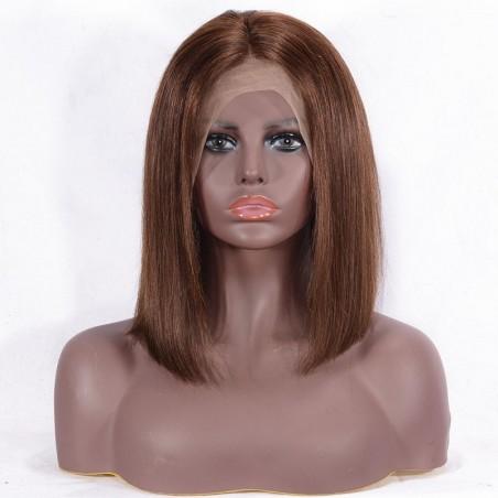"""360° Lace Wig, Bob, 10"""", Color 2 (Darkest Brown)"""