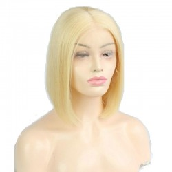 "360° Lace Wig, Bob, 10"", Color 24 (Golden Blonde)"