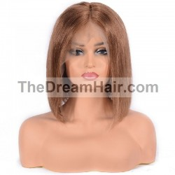 "360° Lace Wig, Bob, 10"", Color 30 (Dark Auburn)"