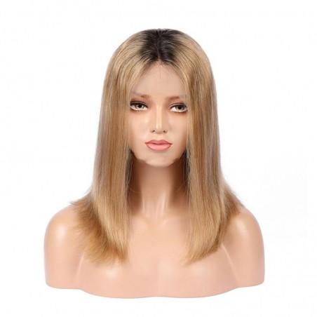 360° Lace Wig, Ombre Color 1B/18 (Off Black / Light Ash Blonde)