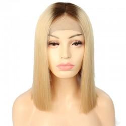 "360° Lace Wig, 16"", Ombre Color 2/24 (Darkest Brown / Golden Blonde)"