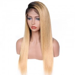 Full Lace Wig, Color 1B (Off Black / Light Pale Blonde)