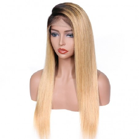 360° Lace Wig, Color 1B (Off Black / Light Pale Blonde)