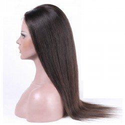 360° Lace Wig, Long Length, Color #1B (Off Black), Made With Remy Indian Human Hair