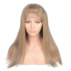 "Full Lace Wig, 18"", Color 18 (Ligh Ash Blonde)"