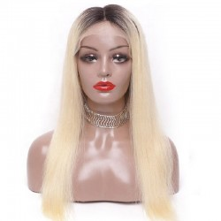360° Lace Wig, Color 1B/60 (Off Black / Lightest Blonde)