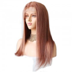 360° Lace Wig, Long Length, Color #33 (Auburn), Made With Remy Indian Human Hair