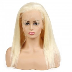 360° Lace Wig, Color 60 (Lightest Blonde)