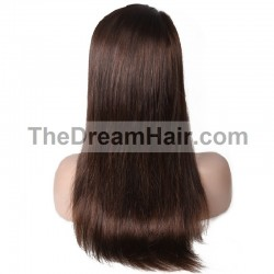 360° Lace Wig, Long Length, Color #2 (Darkest Brown), Made With Remy Indian Human Hair