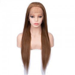 360° Lace Wig, Extra Long Length, Color #6 (Medium Brown), Made With Remy Indian Human Hair