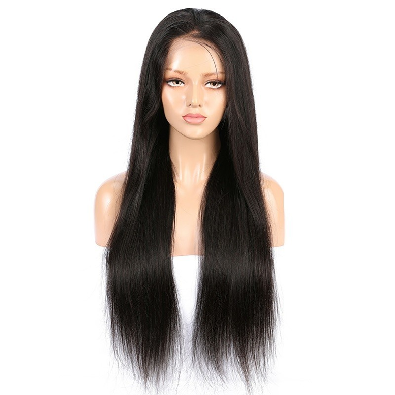 360° Lace Wig, Extra Long Length, Color #1B (Off Black), Made With Remy Indian Human Hair