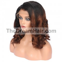 360° Lace Wig, Ombre Color 1B/4 (Off Black / Dark Brown)