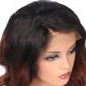 Full Lace Wig, Color 1B (Off Black / Dark Brown)