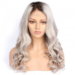 Full Lace Wig, Ombre Color 2/60 (Darkest Brown / Lightest Blonde)
