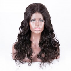 360° Lace Wig, Color 1B (Off Black)