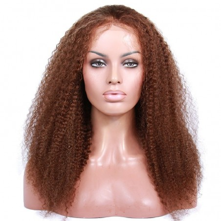 360° Lace Wig, Highlight Color 4/60 (Dark Brown / Lightest Blonde)