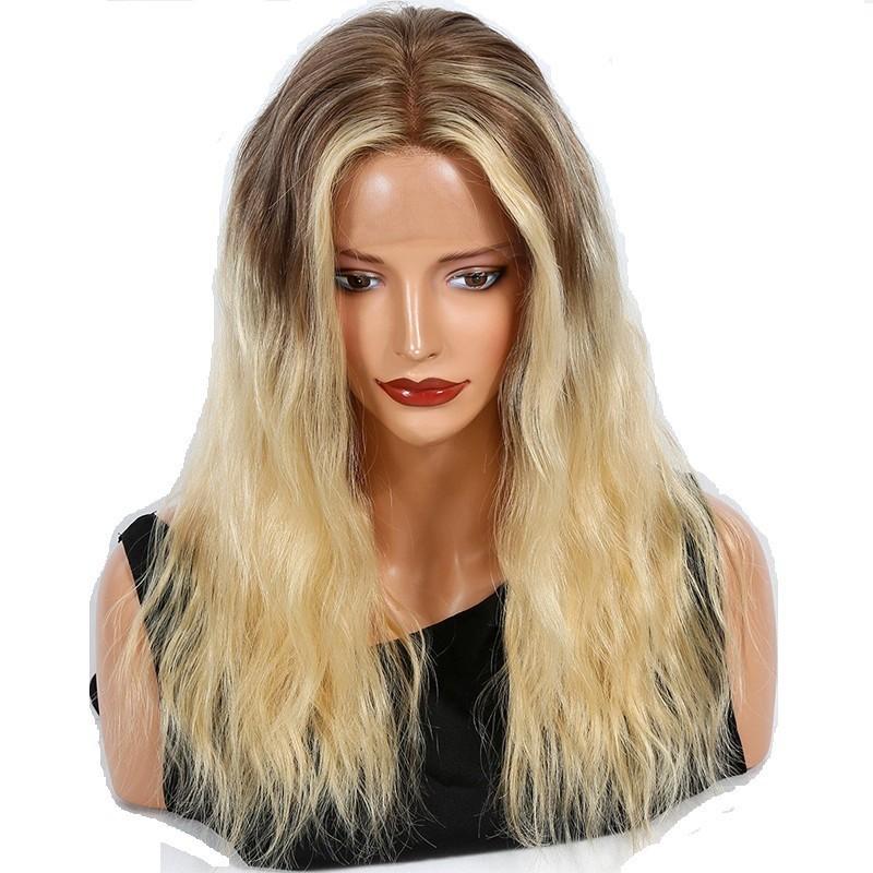 Full Lace Wig, Ombre Color 4/613 (Dark Brown / Platinum Blonde)