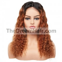 360° Lace Wig, Color 1B/33 (Off Black / Auburn)