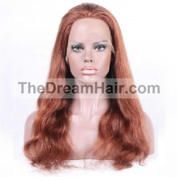 Full Lace Wig, Color 350 (Dark Copper Red)