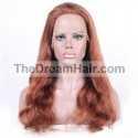 360° Lace Wig, Color 350 (Dark Copper Red)
