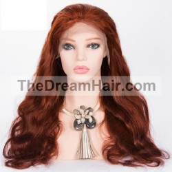Full Lace Wig, Bob, Color 33 (Auburn)