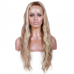 Full Lace Wig, Highlight Color 4/60 (Dark Brown / Lightest Blonde)