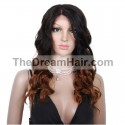 360° Lace Wig, Ombre Color 1B/30 (Off Black / Dark Auburn)