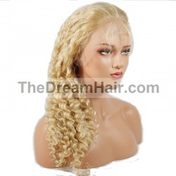 Full Lace Wig, Color 613 (Platinum Blonde)