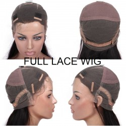 Full Lace Wig, Long Length, Color #1B (Off Black), Made With Remy Indian Human Hair