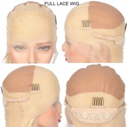 Full Lace Wig, Color 24 (Golden Blonde)