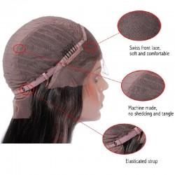 Full Lace Wig, Fringe, Color 1B (Off Black)