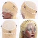 Full Lace Wig, Color 8/613 (Chestnut Brown / Platinum Blonde)