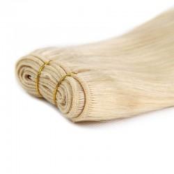 Weave, Straight, Color 60 (Lightest Blonde)