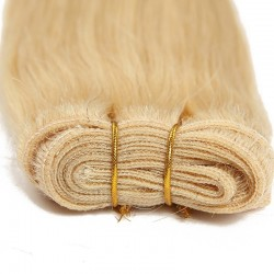 Weave, Straight, Color #22 (Light Pale Blonde), Made With Remy Indian Human Hair