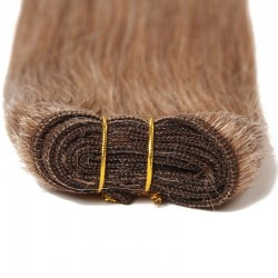Weave, Straight, Color #12 (Light Brown Brown), Made With Remy Indian Human Hair